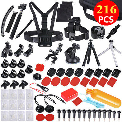 Accessories Pack Case Head Chest Monopod Floating for GoPro Go Pro Hero 7 6 5 4