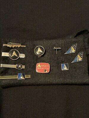 Ansett Airlines 4x Tie Clips & 6 Lapel Pins