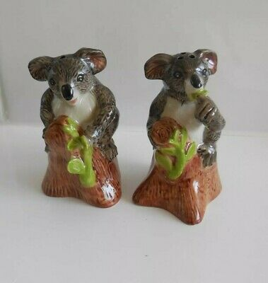 Australian Koala on Tree branch Ceramic Salt & Pepper Shakers