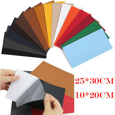 Self Adhesive Leather Repair Patches Pieces Filler Car Seat DIY Craft 25x30cm