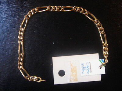 Very Beautiful Vintage Bracelet 1970 Gold Plated 8 Grs New / New/Old 18 CM
