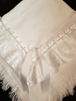 beautiful White baby  shawl **NEW** for christening or everyday use