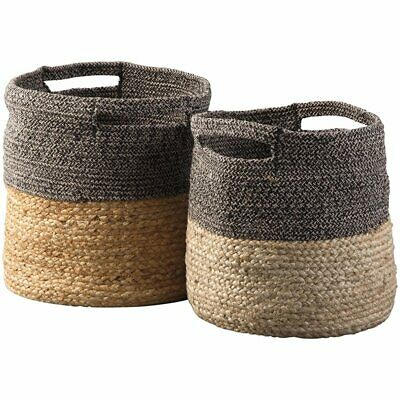 Ashley Parrish 2 Piece Basket Set in Natural and Black