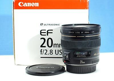 Canon EF 20mm F/2.8 USM lens caps boxed