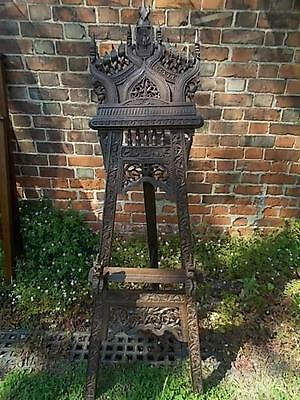 Fabulous Quality Antique c19th Carved CHINESE Artists Easel Superb Wood Carving