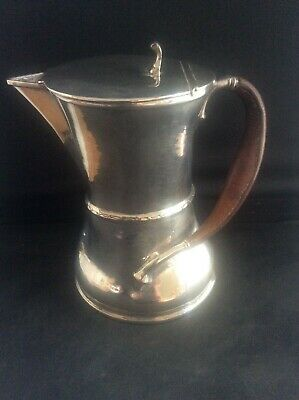 James Dixon & Sons Arts & Crafts Silver Plated EPBM Jug with Leather Handle 1921