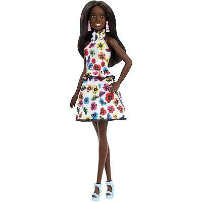 Barbie Fashionistas Doll 106 - Original with Brunette Hair & Floral Print Dress