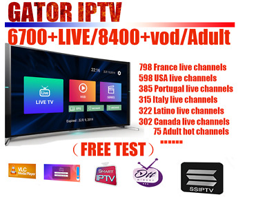 1 Year IPTV Europe 6000+Channels France Portugal Belgium UK USA Bein Sports