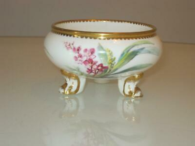 Stunning Antique Daniell & Son Porcelain Hand Painted Miniature Footed Bowl