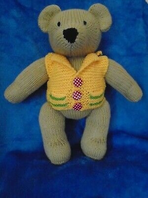 Beautiful new hand knitted teddy bear