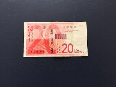 Circulated Israel 20 Denomination Bank Note. Ideal For An Avid Note Collector.