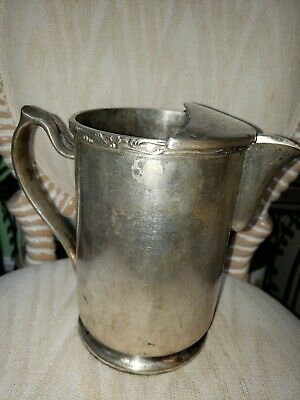 Grand Silver Co. Wear Brite Nickel Silver  Pitcher with ice lip