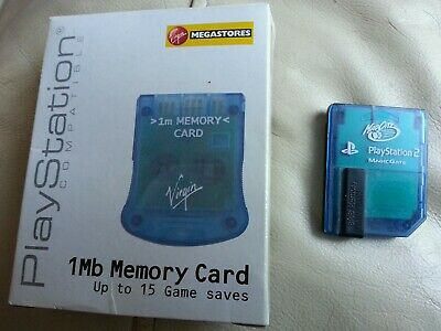 Mad Catz Licenced [PS2] Sony PlayStation 8MB Memory Card BLUE PSone SCPH-1020 UK
