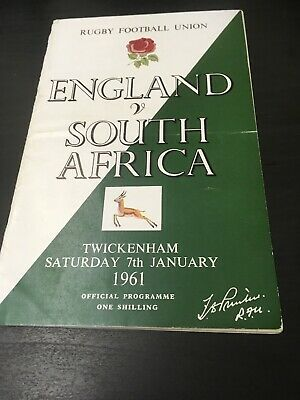 England Rugby Union Programmes