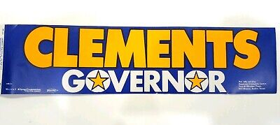 Vintage Decal - Bill Clements for Texas Governor