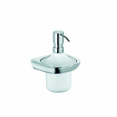 KLUDI AMBA Porcelain Soap Dispenser Glossy Chrome Details Wall-Mounted 5397605