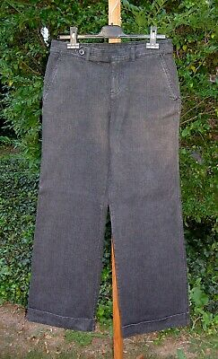 Ralph Lauren CHAPS Black Denim Pants - Cotton Stretch Wide Leg Size 4 nwot