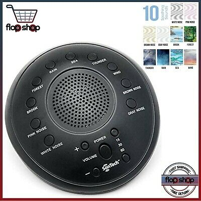SonWave - White Noise Sound Machine - 10 Natural Soothing Sound Tracks Home,