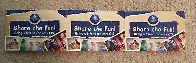 Merlin Annual Pass - Share The Fun / Bring A Friend For £15 Vouchers X3