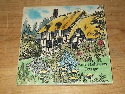 Beautiful Ann Hathaway's Cottage Ceramic 6 inch Tile