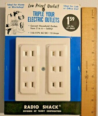 Vintage Radio Shack Triple your Electric Outlets Made in Japan Rare --  598