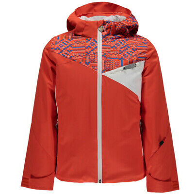 SPYDER Girls Project Timeless Hoody Ski Quilted Padded Down Jacket Coat Age 16