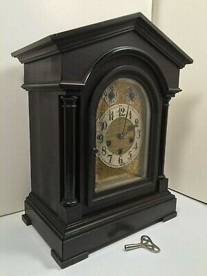 Antique Junghans Westminster Chimes 8 Day Bracket Clock Germany Works Great!