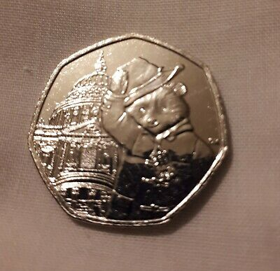 New 2019 UK Paddington Bear at St Pauls 50p Coin From Sealed Bag