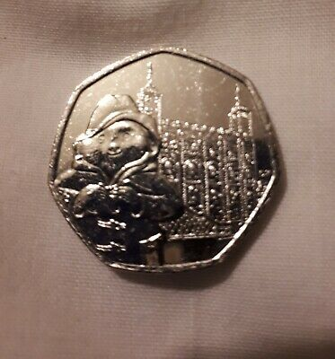 New 2019 UK Paddington Bear at the Tower of London 50p Coin From Sealed Bag