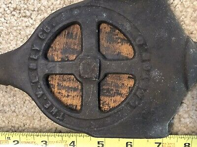 Antique Cast Iron Pulley Hay Trolley? Farm Barn Tool Primitive Rustic Decor