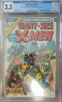 Giant-Size X-Men #1 (Summer 1975, Marvel) CGC 3.5 White Pages Signed by Stan Lee