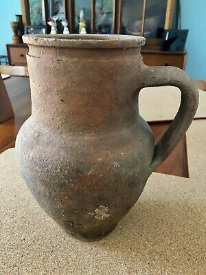 Ancient? Roman? Terra-cotta Pottery Jug Italy Mediterranean Antique Rome