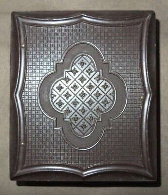 Antique Gutta Percha Case/Picture Frame w Tin Type of African American Gentleman