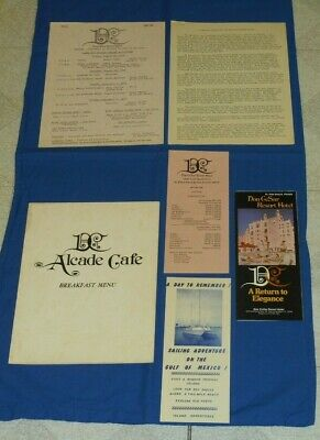 vintage Don Cesar Resort Hotel DC ALCADE CAFE MENU St. Petersburg Beach Florida