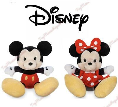 Disney Store Authentic Mickey Minnie Mouse Tiny Big Feet Small Plush New w/ Tags