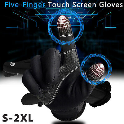 Touch Screen Gloves Winter Ski Driving Waterproof Warm Sports Cycling Men Women