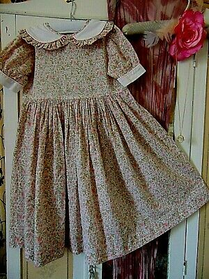Girls Vintage sz 4 Shabby Chic Sprigged Cotton 1950s Dress Absolutely Gorgeous