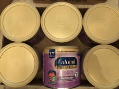 Enfamil Gentlease Powder formula 6 cans 8 oz each
