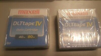 "2New sealed Maxell DLT IV 1/2"" TapeCartridge 40/80GB 4000 7000 8000 VS80 DRIVES"