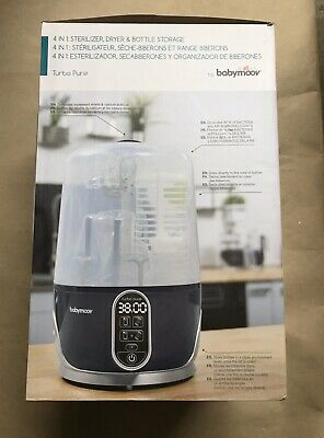 Babymoov A003107 4 In 1 Sterilizer Dryer Bottle Storage  HEPA **NEW!***