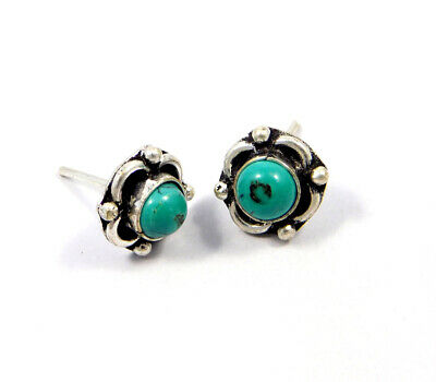 Turquoise .925 Silver Plated Handmade Stud Earring Jewelry JC8133