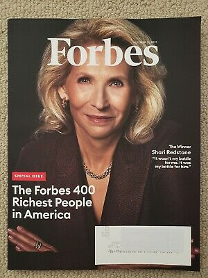 400 Richest People In Amerca Special Issue Forbes Magazine October 2019