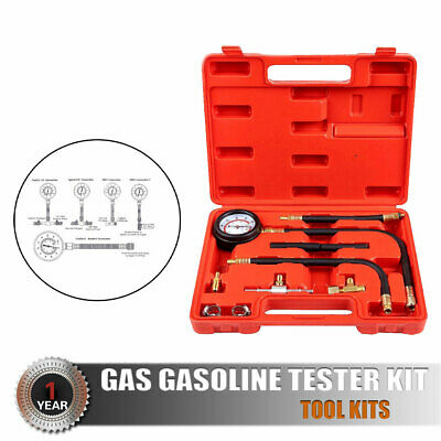 NEW Fuel Injection Compression Gauge of Petrol  Pressure Tester Kit US Tool Kits