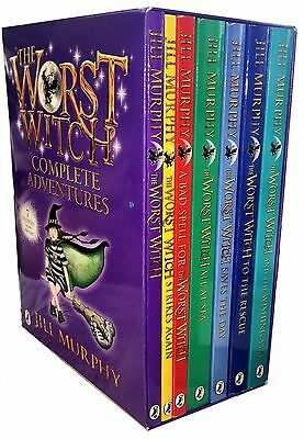 The Worst Witch Complete Adventures Jill Murphy 7 Book Set BOXSET Kids Childrens