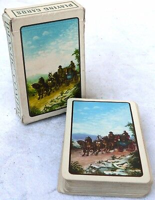 Vintage boxed pack of plastic coated playing cards - Made in Hungary