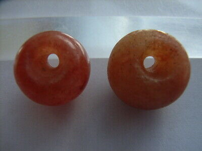 2 Ancient Neolithic Carnelian Amulets, Stone Age, RARE ! TOP!