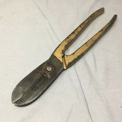 Vintage Footprint Tin Snips, 10 inch,  No.222, Made in England