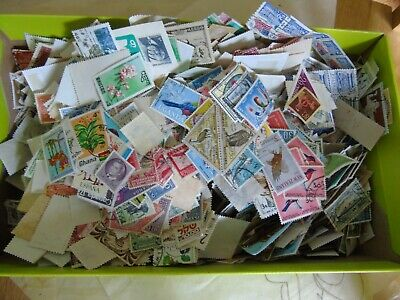Shoe Box of mixed world Stamps Off Paper 400g+