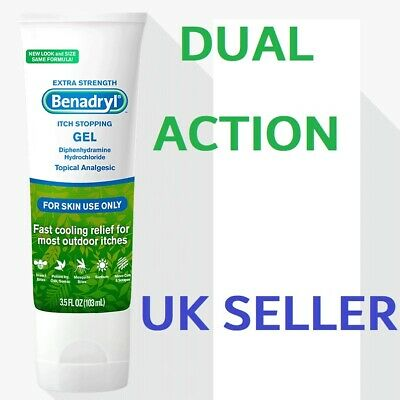 Benadryl Itch Stopping Gel Topical Analgesic MAXIMUM STRENGTH Stops Itching Fast