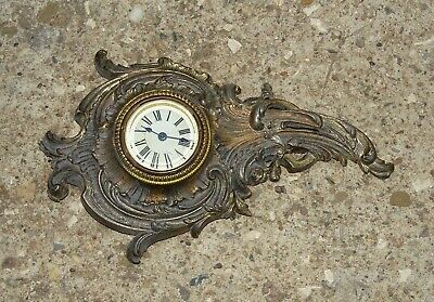 Antique French Bronze / Brass Wall Clock (Cartel)